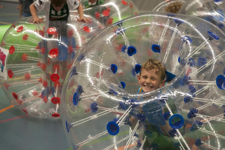 Bubbelvoetbal voor kinderen